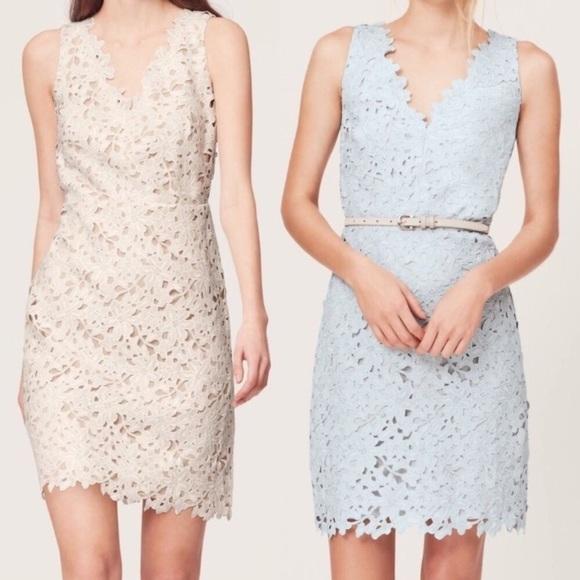 LOFT Dresses & Skirts - LOFT | White Lace Sheath Dress